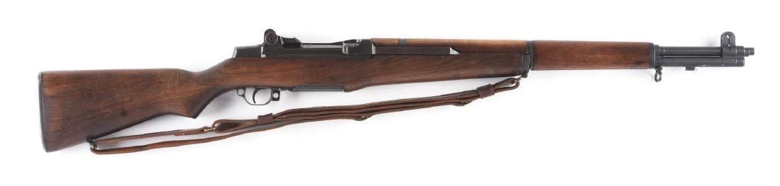 (C) US Springfield M1 Garand Semi-Automatic Rifle.