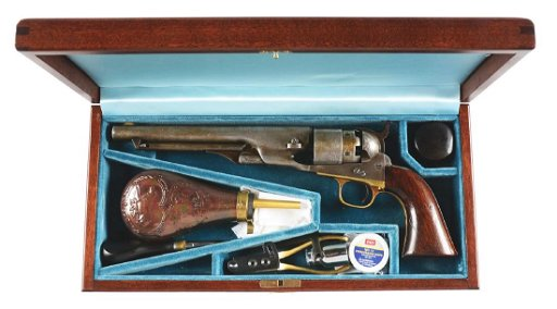 (A) Cased Colt 1860 Army Percussion Revolver with