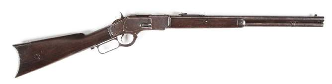 (C) Winchester Model 1873 Lever Action Rifle.