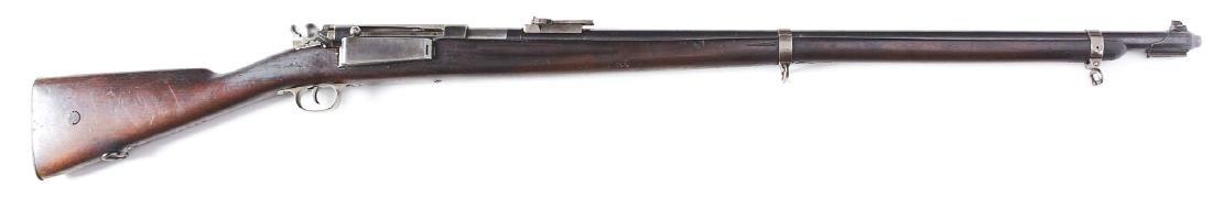 (C) Danish Model 1889 Krag Bolt Action Rifle (1905).