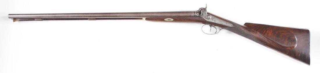 (A) Tryon 12 Bore Double Barrel Muzzeloading Shotgun. - 2