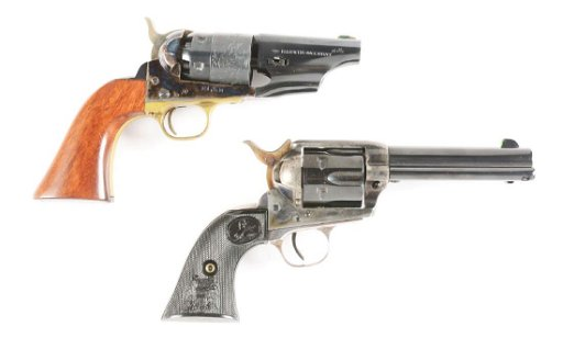 (A+C) Lot of 2: Pietta Percussion Revolver with Holster