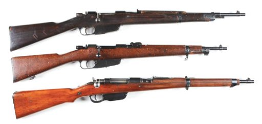 (C) Lot of 3: Steyr Type Military Bolt Action Rifles