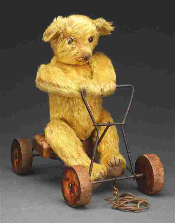 German Record Teddy Bear Pull Toy.