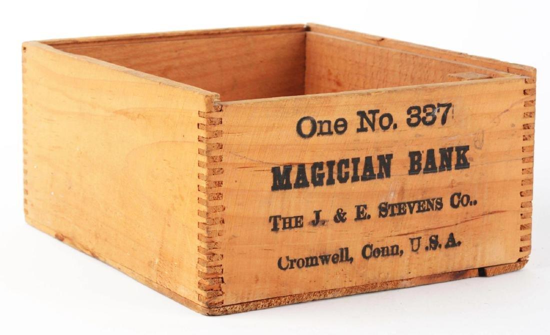J. & E. Stevens Magician Cast Iron Mechanical Bank with - 9