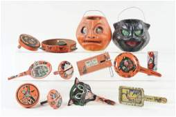 Lot of 13 Halloween JackoLanterns  Noise Makers