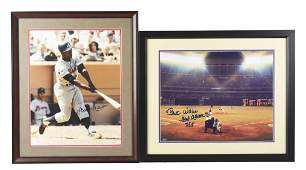Lot of 2: Hank Aaron Autographed Photographs.