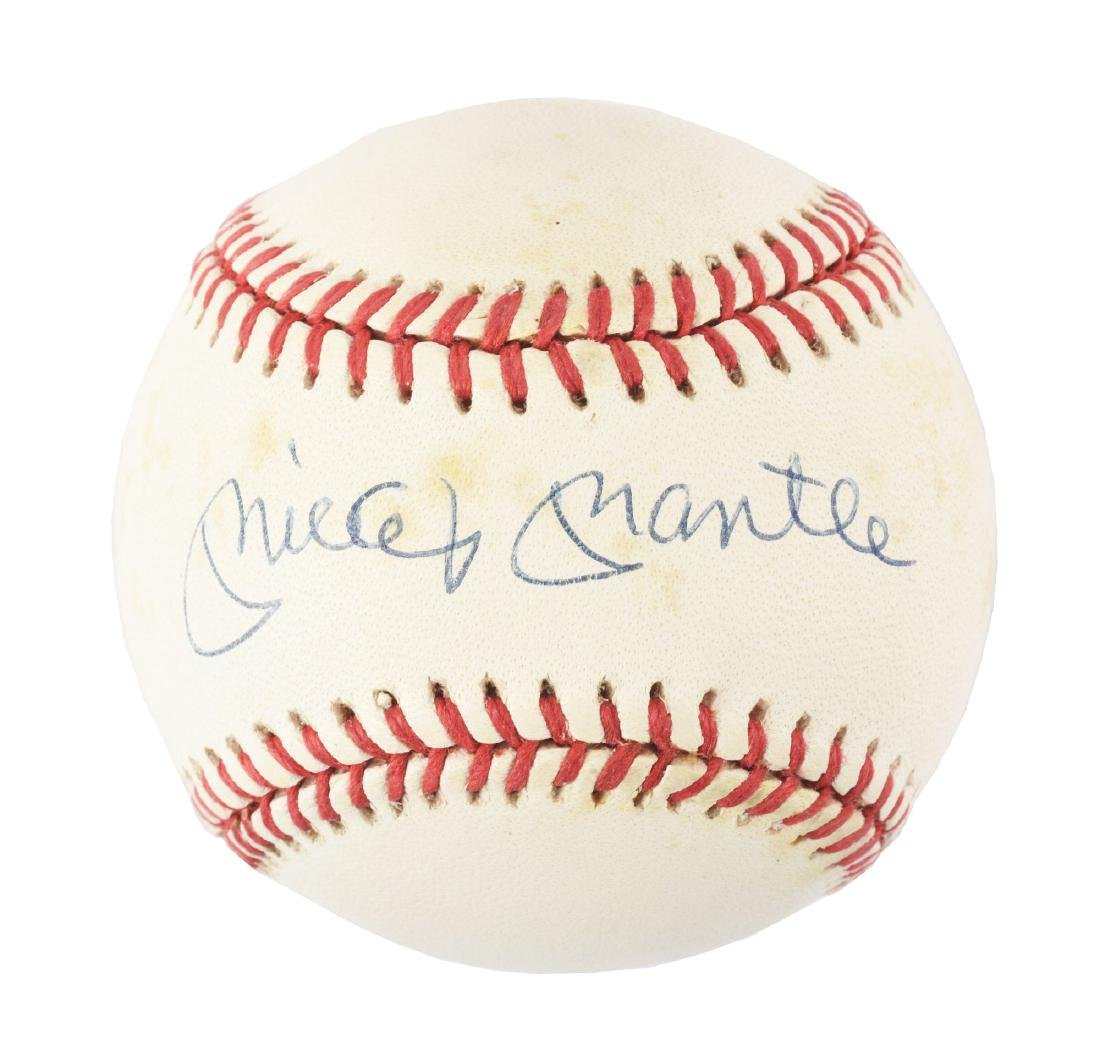 dbc29ecf7 Mickey Mantle Autographed Rawlings Baseball. - Mar 13, 2019 | Dan Morphy  Auctions in PA