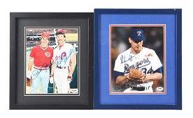 Lot of 2: Autographed Nolan Ryan, Pete Rose & Mike