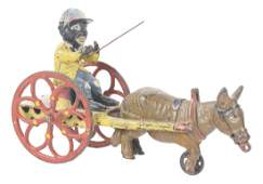 Cast Iron J E Stevens Mule And Cart