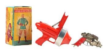 Lot of 2: American Made Toy Ray Guns and Box.
