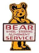 Bear Wheel Alignment Service Die-Cut Tin Sign On