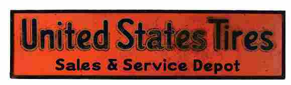 United States Tires Sales  Service Depot Tin Sign with