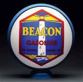 "Very Rare Beacon Gasoline 15"" Single Globe Lens with"