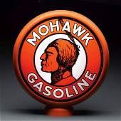 "Mohawk Gasoline 15"" Single Lens On Metal Body."