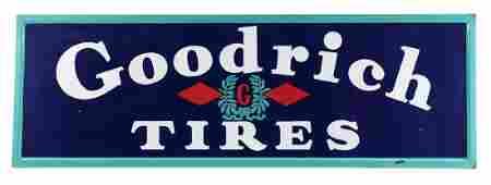 Goodrich Tires Self Framed Porcelain Service Station