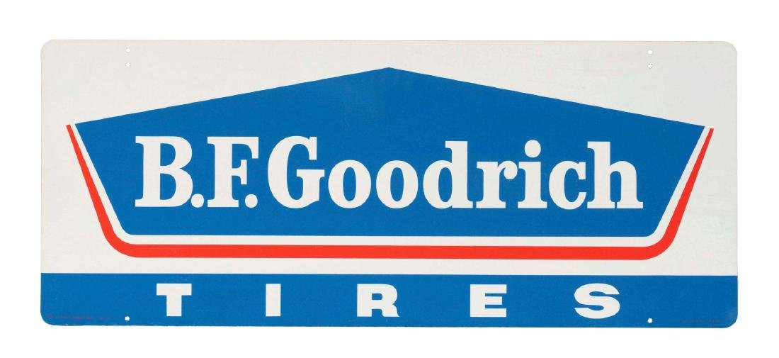 BF Goodrich Tires Tin Sign.