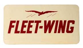 Fleet-Wing Gasoline Service Station Sign with Bird