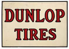 Dunlop Tires Embossed Tin Sign.