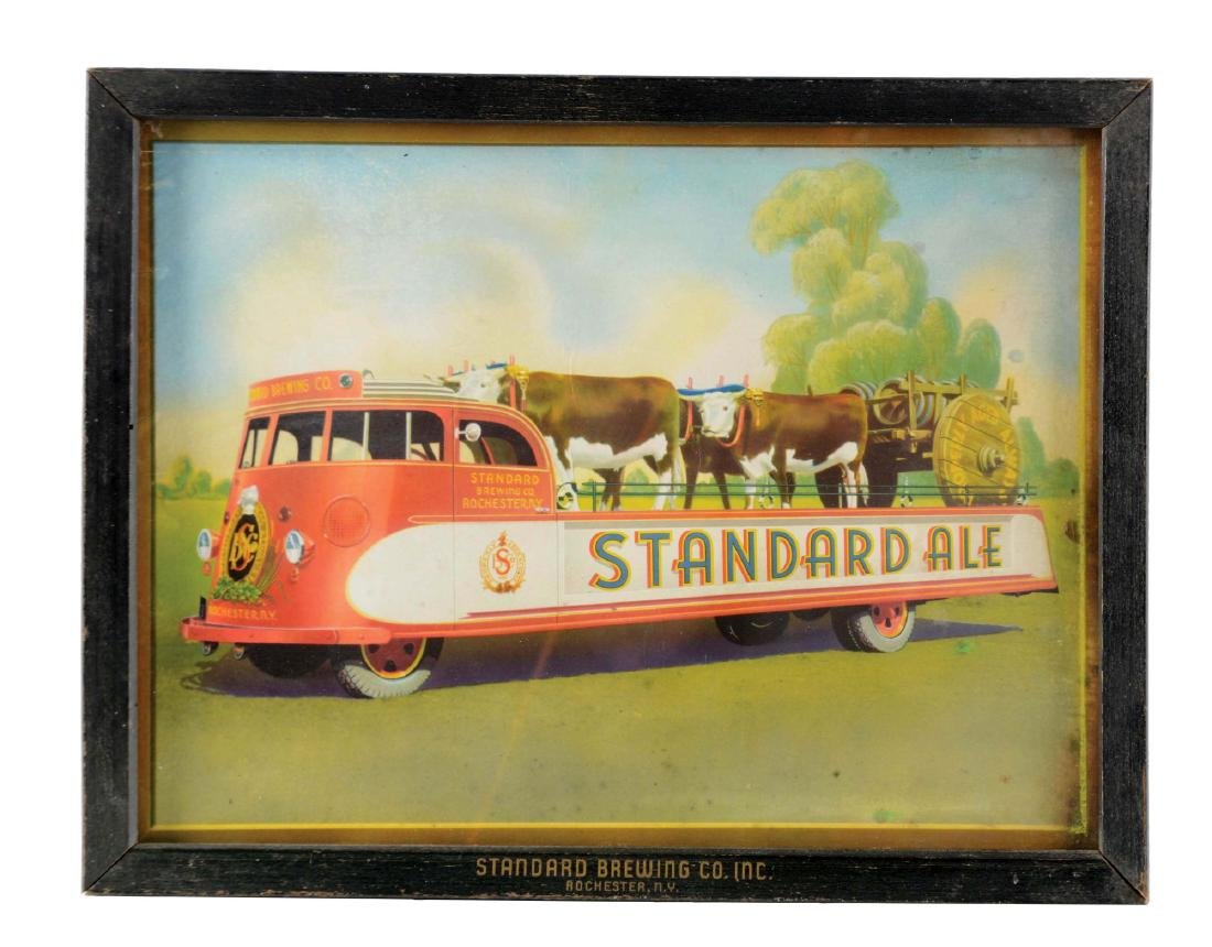 Standard Brewing Co. Framed Painting.