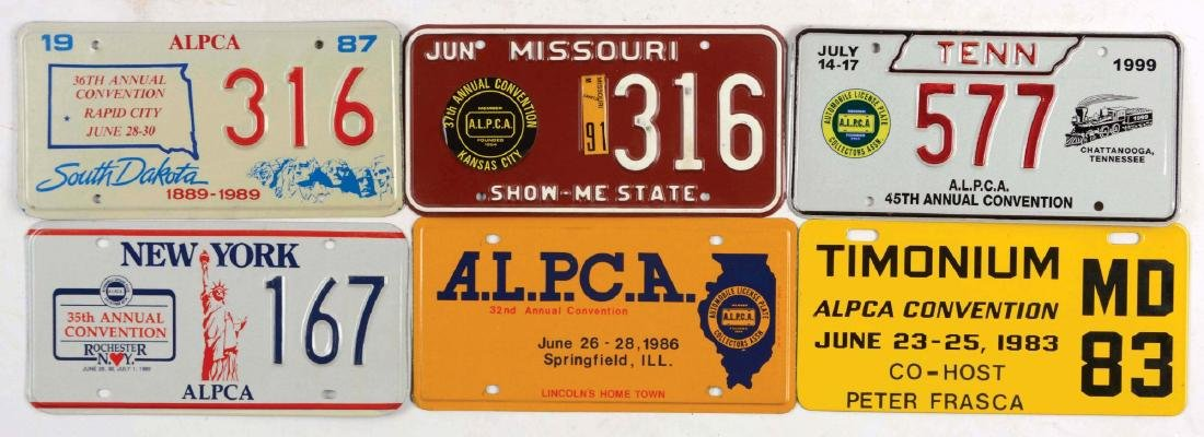 Lot Of 39: ALPCA Convention License Plates.