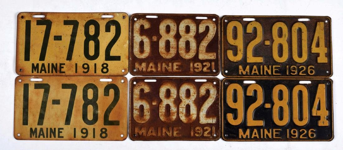 Lot Of 25: Maine & Maryland License Plates.