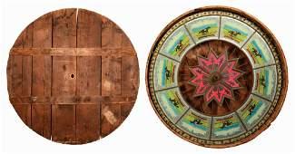 Antique HC Evans Horse Race Gambling Wheel In
