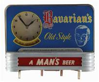 Bavarian's Old Style Beer Light Up Clock.