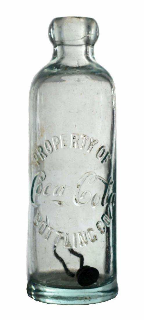 Early Coca-Cola Hutchinson Bottle.