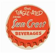 Sun Crest Beverages Bottle Cap Advertising Sign