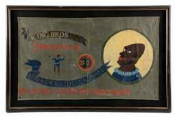King Bros. Side Show Mongo The Pinhead Canvas Banner.