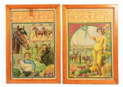 Lot Of 2: Newark Fair Advertising Posters.
