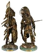 Lot Of 2: Native American War & Peace Paired