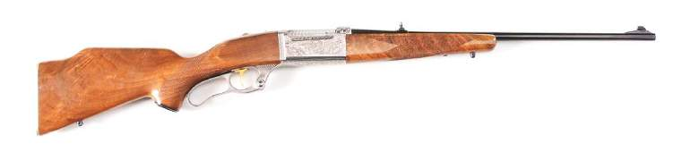 (M) FACTORY ENGRAVED SAVAGE MODEL 99M PE LEVER ACTION