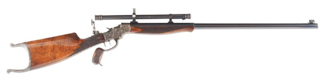 (A) Stevens 44 Action Model 54 Single Shot Rifle With
