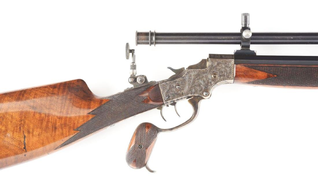 (A) Stevens 44 Action Model 54 Single Shot Rifle With - 2