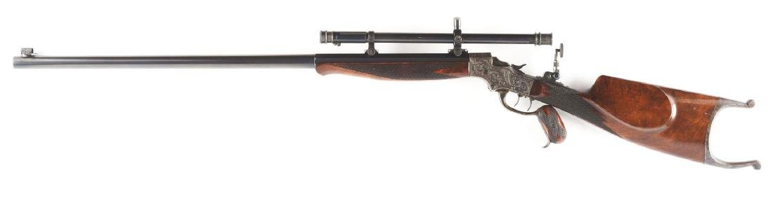 (A) Stevens 44 Action Model 54 Single Shot Rifle With - 3