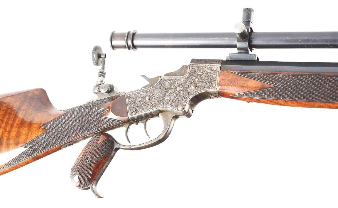 (A) Stevens 44 Action Model 54 Single Shot Rifle With - 6