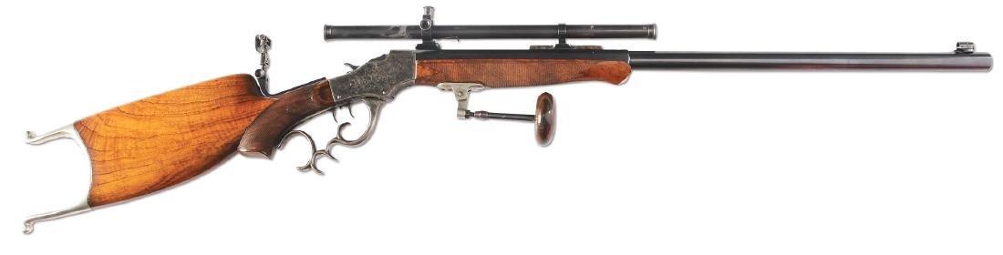 (C) STEVENS 44 - 1/2 POPE SPECIAL SINGLE SHOT RIFLE