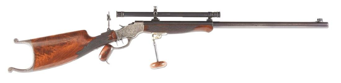 (C) Stevens 44-1/2 Model 54 Single Shot Rifle with