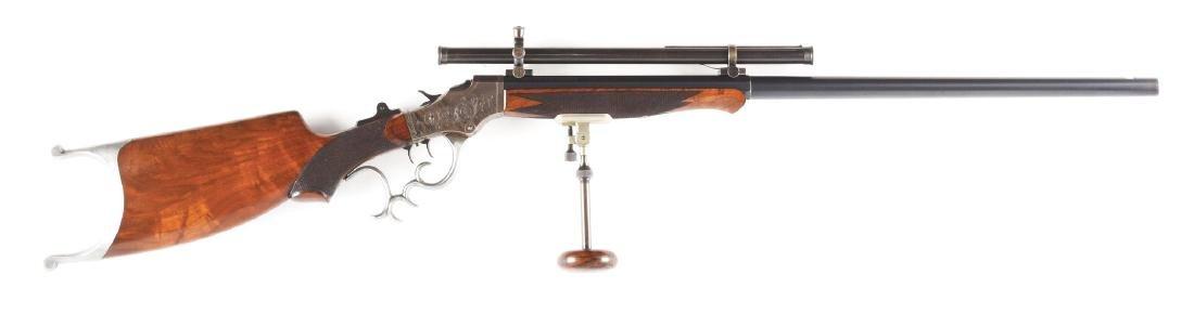 (C) Scoped Stevens 44-1/2 Model 52 Single Shot Rifle