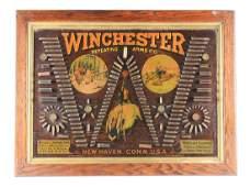 """RARE WINCHESTER MODEL 1890 SINGLE """"W"""" CARTRIDGE BOARD."""