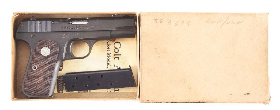(C) Boxed British Proofed US Colt Model 1903 Hammerless - 8