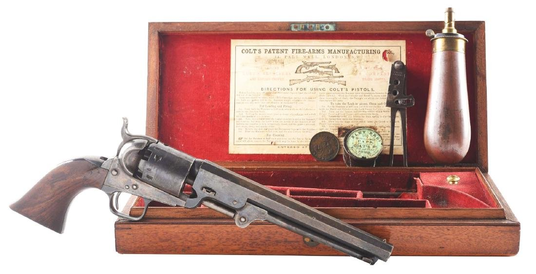 (A) RARE UPPER CANADA MARKED CASED COLT MODEL 1851