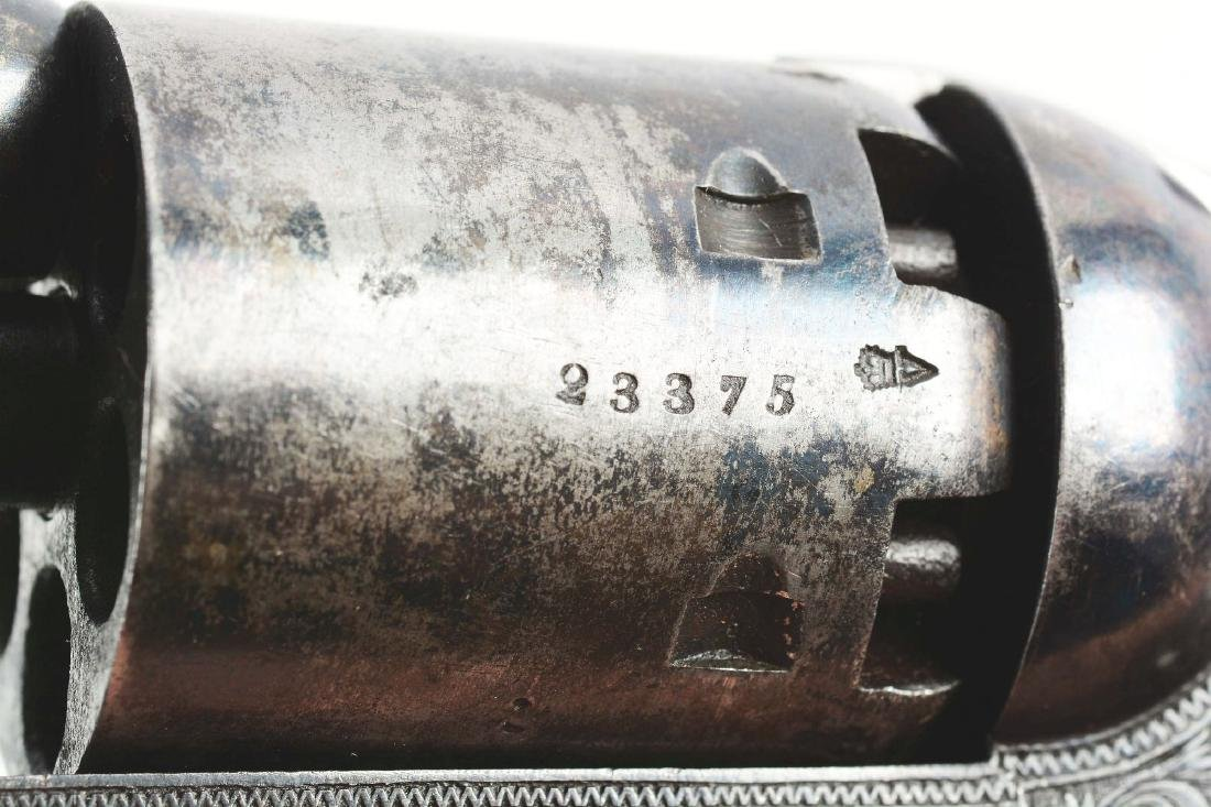 (A) CASED ENGRAVED COLT LONDON 1851 NAVY PERCUSSION - 10