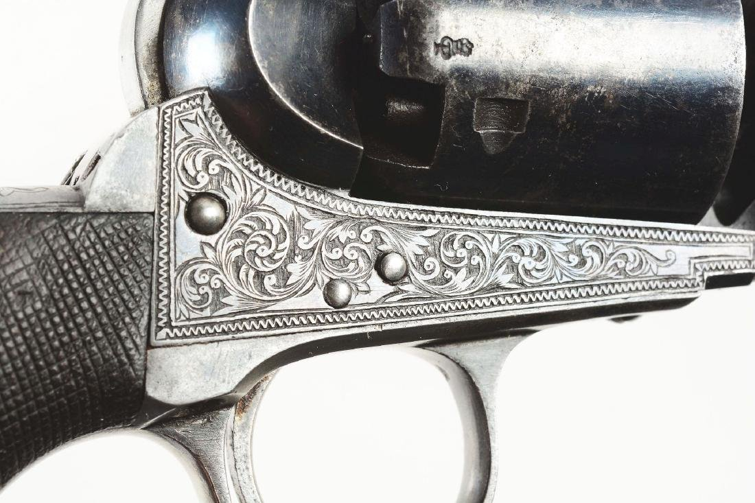 (A) CASED ENGRAVED COLT LONDON 1851 NAVY PERCUSSION - 9
