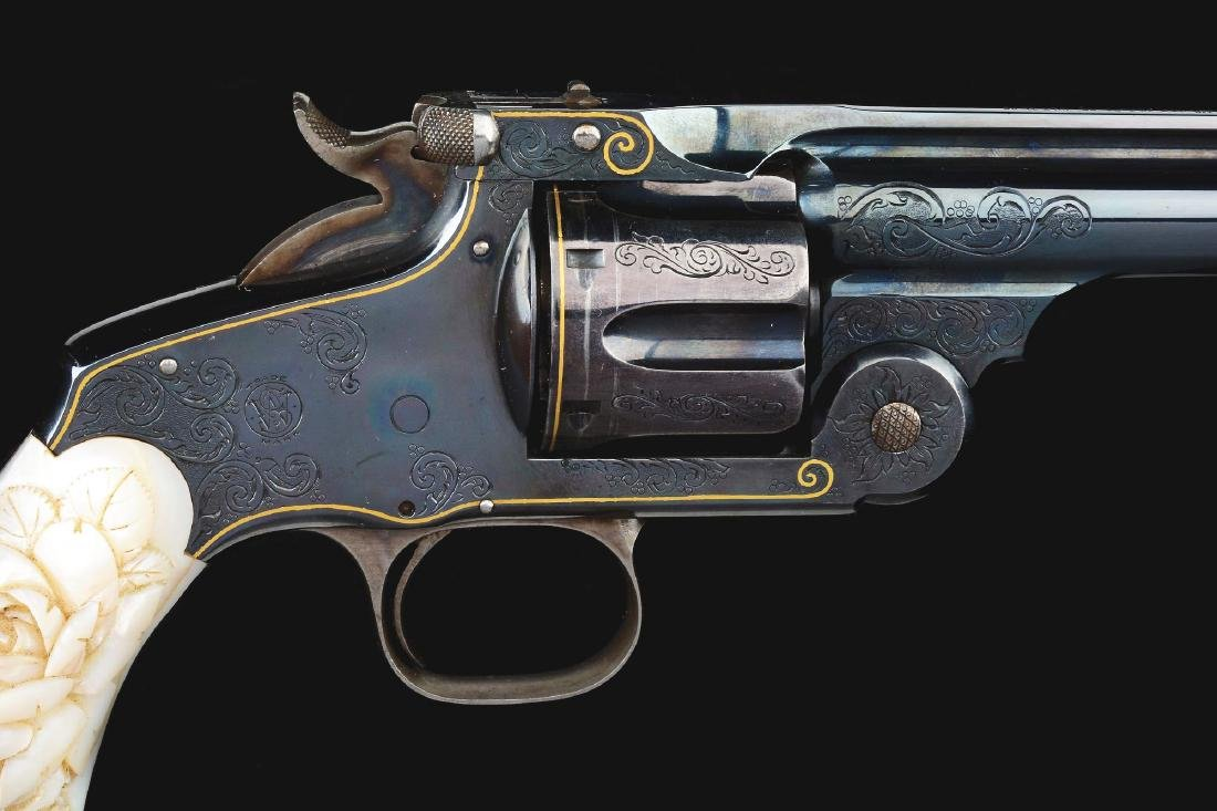 (A) CASED PAIR OF JAPANESE ENGRAVED SMITH & WESSON NO. - 10