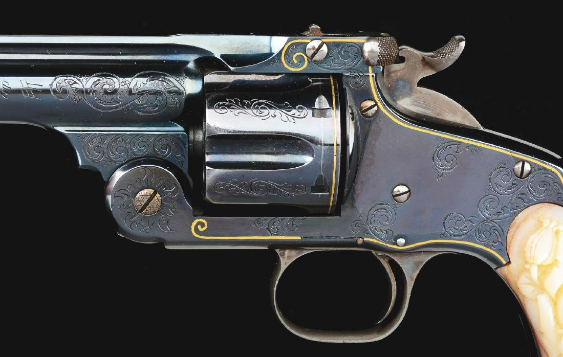 (A) CASED PAIR OF JAPANESE ENGRAVED SMITH & WESSON NO. - 4