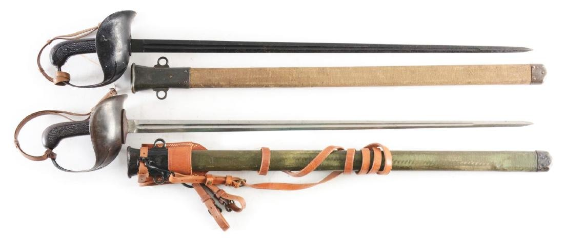 LOT OF 2: MODEL 1913 PATTON CAVALRY SABERS.