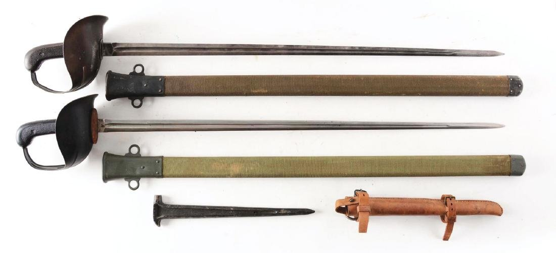 """LOT OF 2: TWO MODEL 1913 CAVALRY """"PATTON"""" SABERS WITH"""